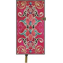 Zápisník Boncahier - úzký červený kovová spona