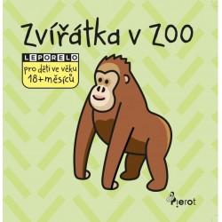 Zvířatka v ZOO - leporelo pro děti ve věku 18+ měsíců