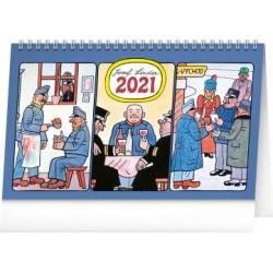 Kalendář 2021 stolní: Josef Lada – Švejk, 23,1 × 14,5 cm