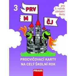 Procvičovací karty na celý školní rok 3 - ČJ, M, Prvouka
