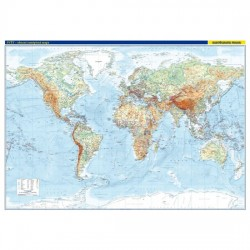 Svět – nástěnná obecně zeměpisná mapa 1 : 22 000 000