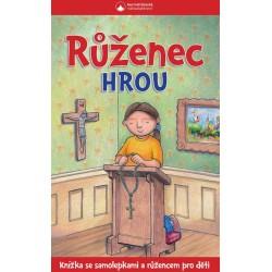 Rúženec hrou - Knížka se samolepkami a růžencem pro děti