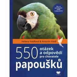 550 otázek a odpovědí pro chovatele papoušků