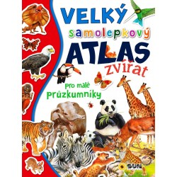Velký samolepkový atlas zvířat pro malé průzkumníky