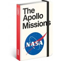 Diář 2022: NASA - týdenní, 11 x 16 cm (západní kalendárium)