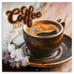 Kalendář 2022 poznámkový: Káva, voňavý, 30 × 30 cm (západní kalendárium)