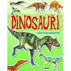 Dinosauři - kniha plná samolepek