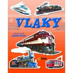 Vlaky - kniha plná samolepek