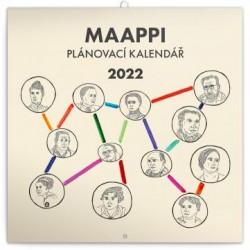 Kalendář 2022 nástěnný: Rodinný plánovací Maappi, 30 × 30 cm