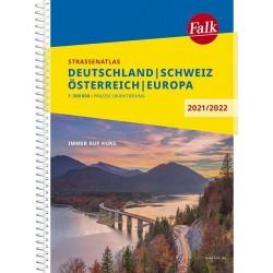 Německo, Rakousko, Švýcarsko atlas Falk