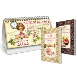 Kalendář 2022 - Nedělní recepty naší babičky + Tajné recepty na muffiny + Tajné návštěvní recepty