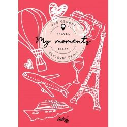 My Moments - cestovní deník / červený