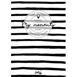 My Moments - cestovní deník / pruhovaný