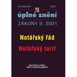 Aktualizace II/7 - Notářský řád, Notářský tarif