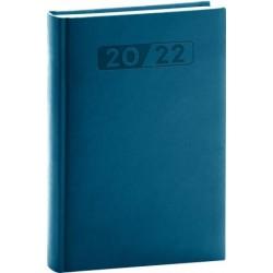 Diář 2022: Aprint - petrolejově modrý/denní, 15 x 21 cm
