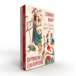 Ezopovy bajky / Chytrolíni z Hloupětína (BOX 2 knihy)