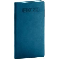 Diář 2022: Aprint - petrolejově modrý/kapesní, 9 x 15,5 cm