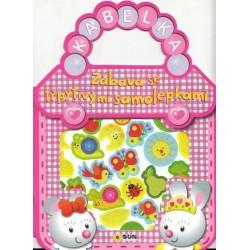 Růžová kabelka - Zábava se třpytivými samolepkami
