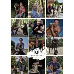 Kalendář Pes a celebrita / nástěnný