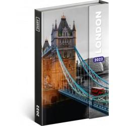 Diář 2022: Londýn - týdenní, magnetický, 11 x 16 cm (západní verze)